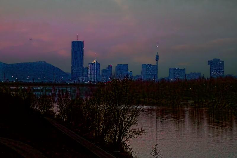 Donaustadt Sunset