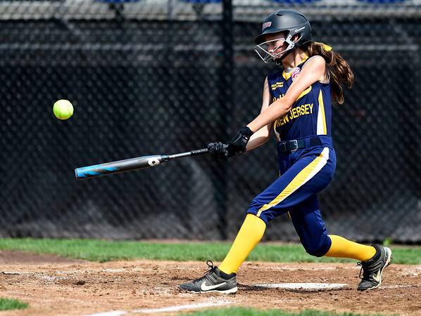 7/20/2019 Mike Orazzi | Staff New Jersey's Riley Mikolajczak (2) during Little League softball with Rhode Island at Breen Field in Bristol on Saturday.