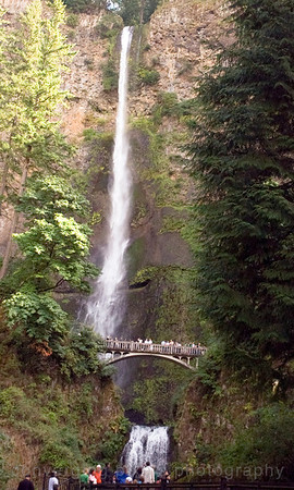 """Multomah Falls 1"" , Columbia River Gorge, Oregon side."