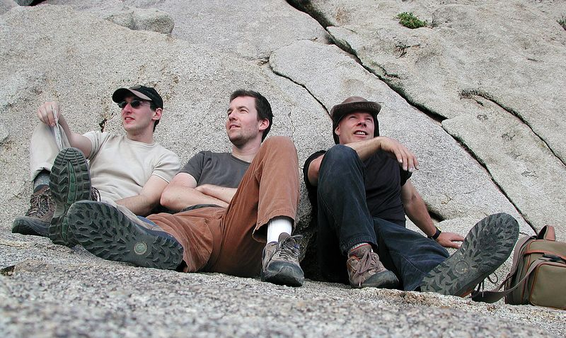 Jason, Bob and me resting up at the Buttermilks