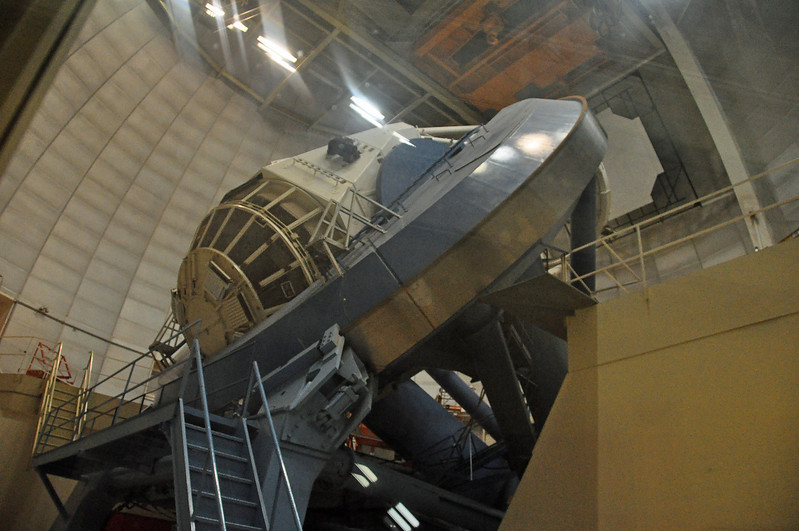 The alien spaceship from Roswell has been moved to Kitt's peak and disguised as a 4M telescope.  Who are  they fooling?