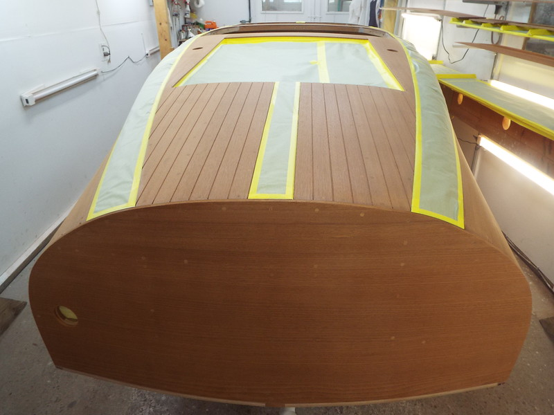 Rear deck view of the ebony stain mask.