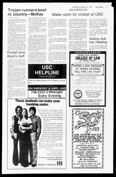 Daily Trojan, Vol. 67, No. 23, October 16, 1974