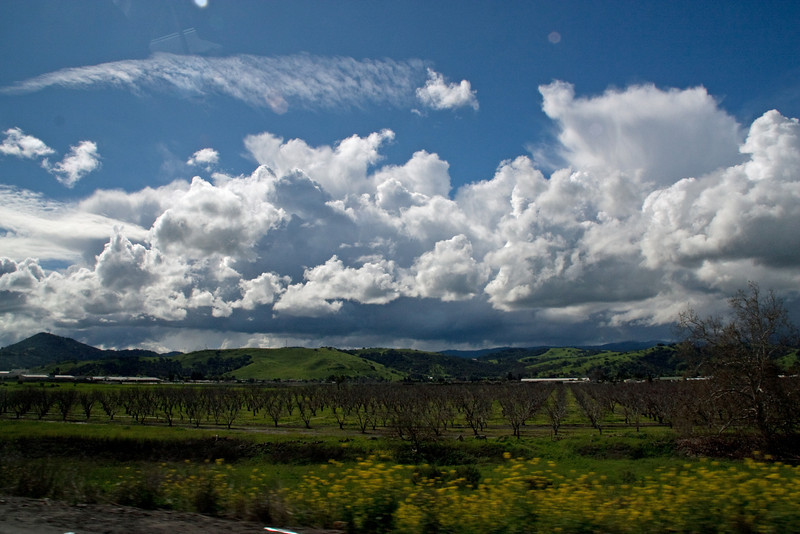 From Highway 101 going south from San Jose.
