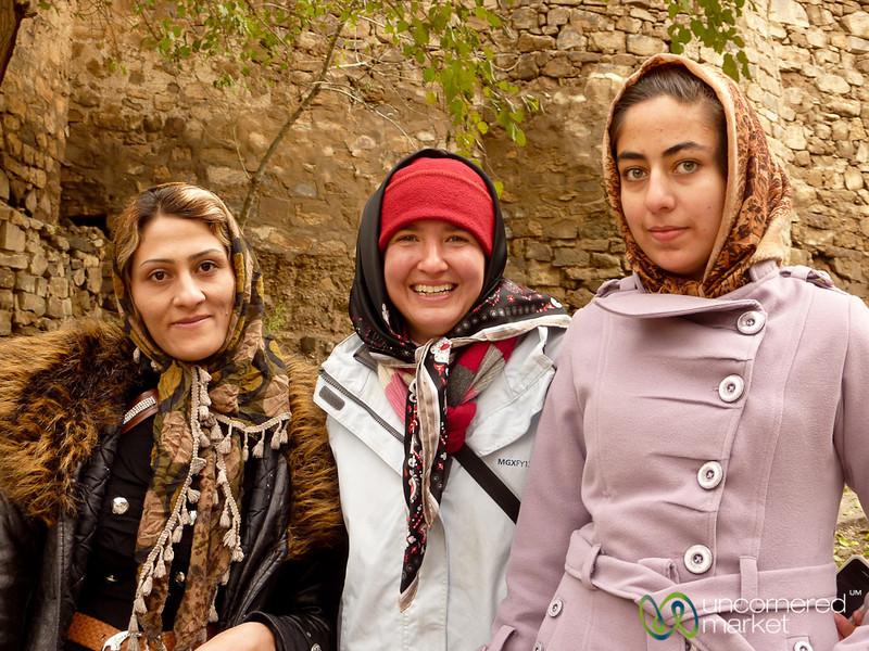 Audrey with Iranian Women - St. Stephanos, Iran