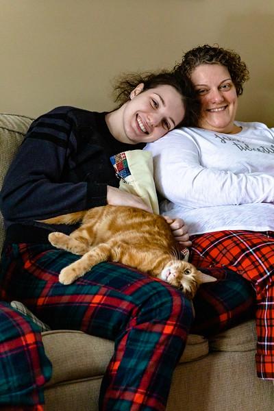 Xmas with Marsha, Sarah and Toby