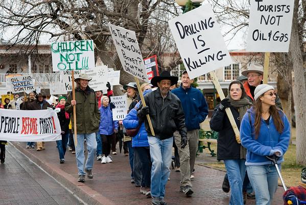 Santa Fe Anti-Drilling March - Dec 8, 2007