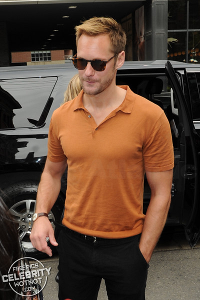 Alexander Skarsgard Goes Sockless In Orange In Canada