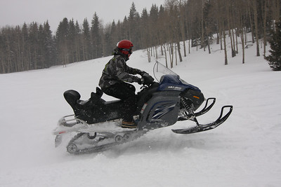 Telluride Snowmobiling<br>February, 2010