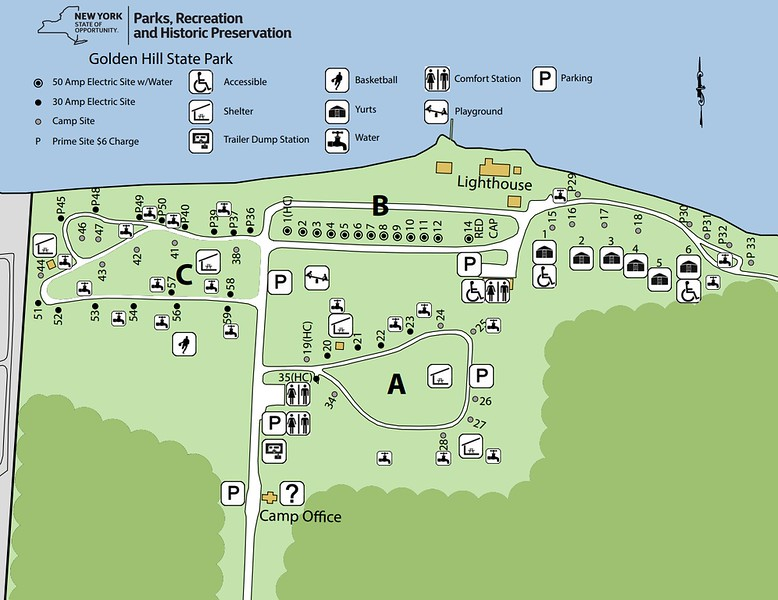 Golden Hill State Park (Campground Map)