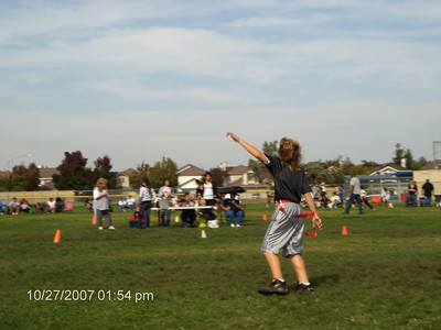 Blake's fourth flag-football game. 10-27-07