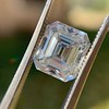 3.10ct Vintage Emerald Cut Diamond, GIA H VS1 34