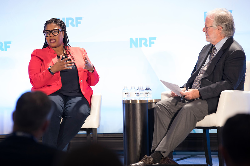 Molly Ford and Brian Kilcourse at NRFtech 2019