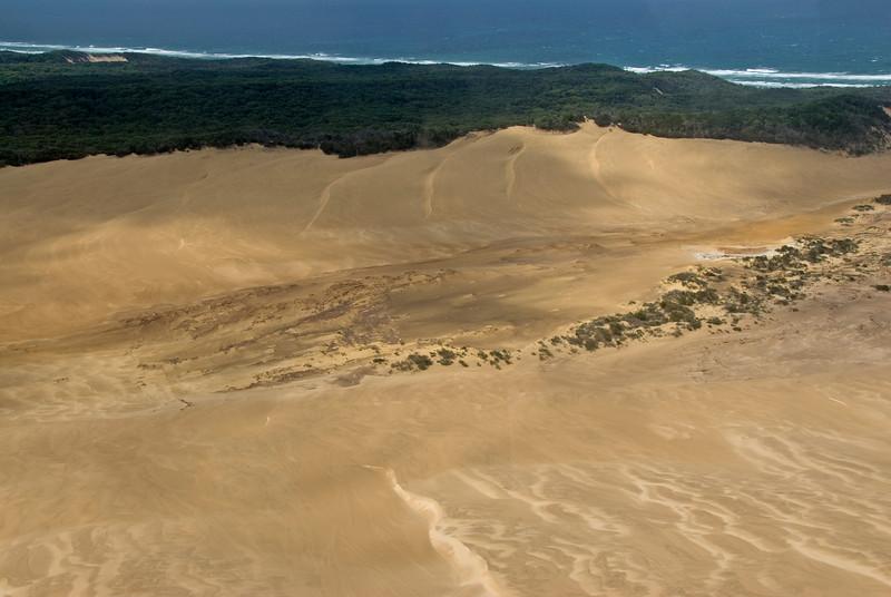 Sand Dunes from Air, Fraser Island - Queensland, Australia
