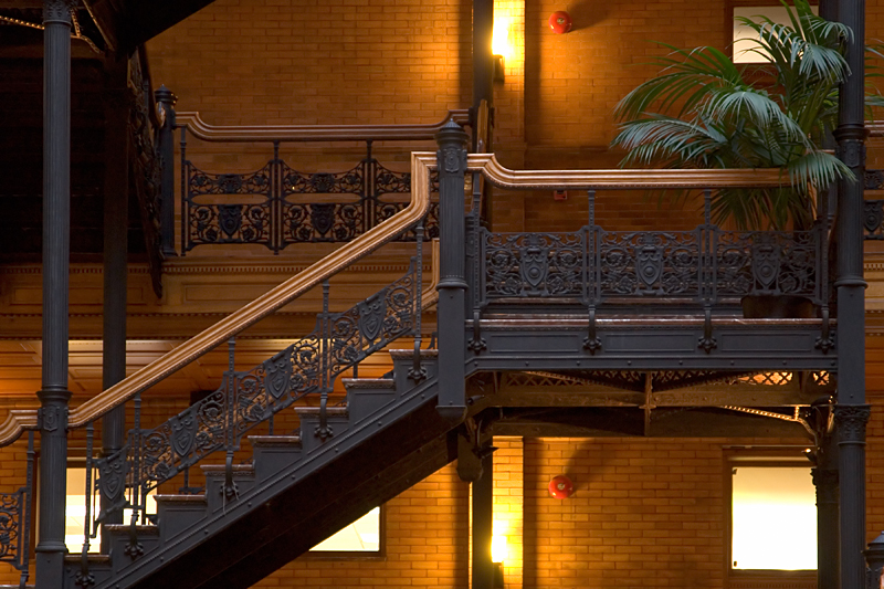 Bradbury Building, built in 1893 at 3rd and Broadway in Los Angeles.