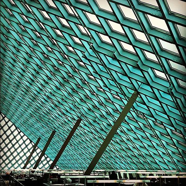 Seattle Public Library - public places, geometric spaces #architecture