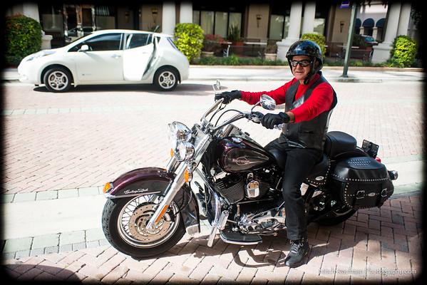 Arthur on His Harley