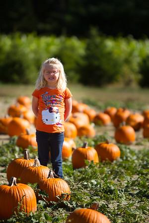 Mackenna at the Pumpkin Patch Oct 15, 2016