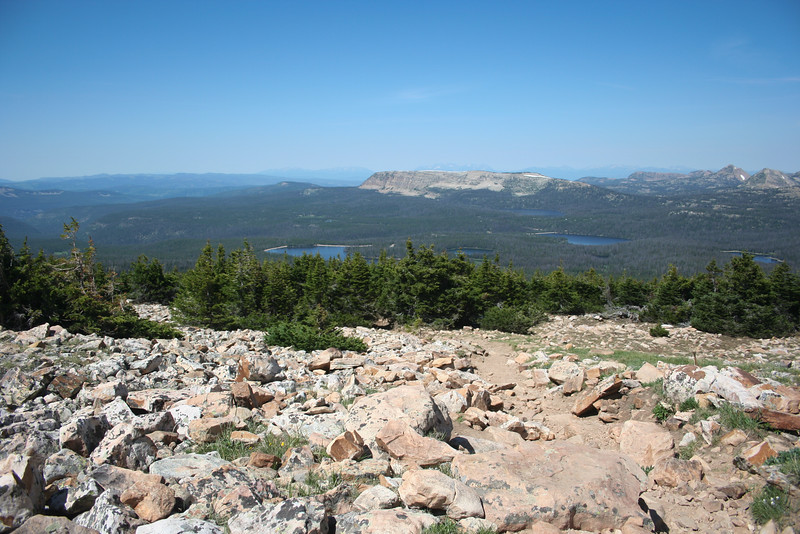 We arrived in Utah to pull Mike out of work, so we went for a hike in the Uintas Mountains.