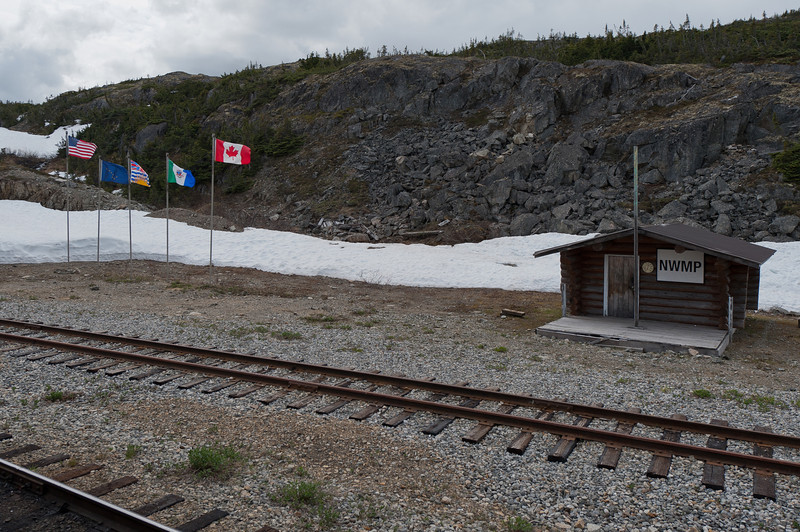 A shed along the route of White Pass Train in Alaska