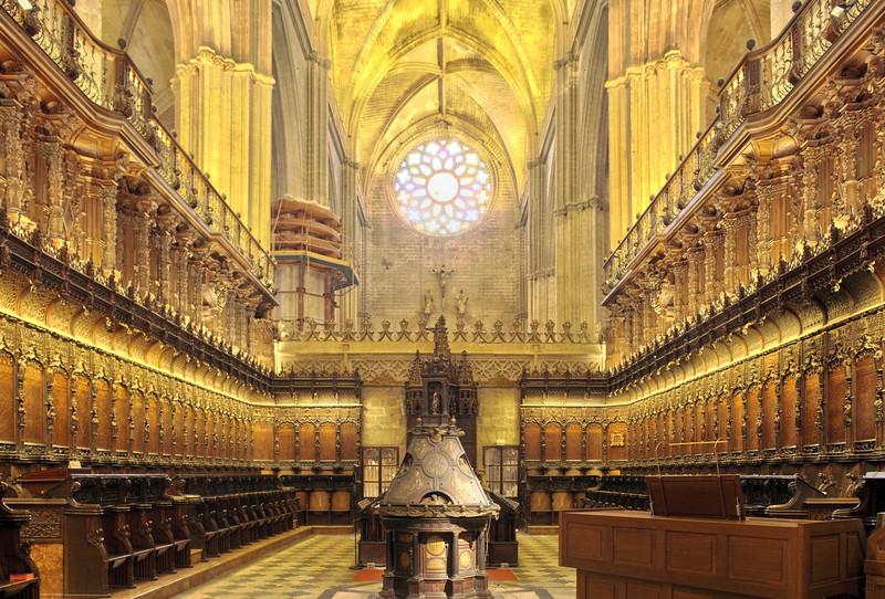 Choir of Santa Maria de la Sede Cathedral, Seville, Spain