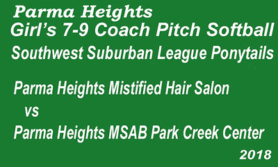 180615 Parma Heights Girl's 7-9 Coach Pitch Softball