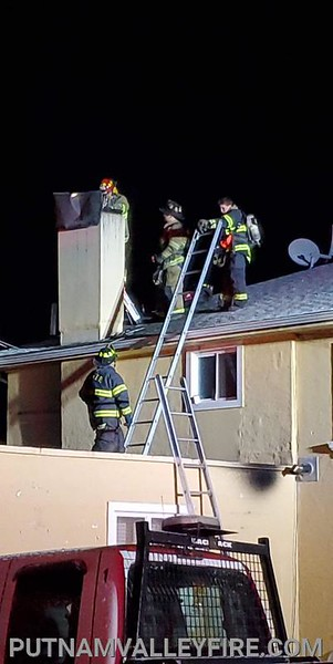 2-8-20 Mutual Aid Chimney Fire, Putnam Valley
