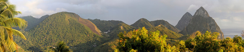 Panoramic view from our room at Crystals Hotel Soufriere, St. Lucia