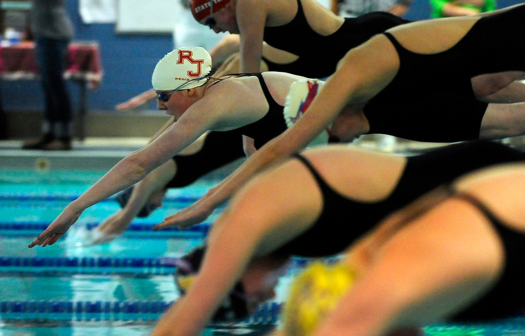 . Missy Franklin started the 400-yard freestyle relay for Regis Jesuit High School, 2010.  The Colorado 5A State Girls Swimming and Diving Championships were concluded Saturday afternoon in Fort Collins.     Karl Gehring, The Denver Post