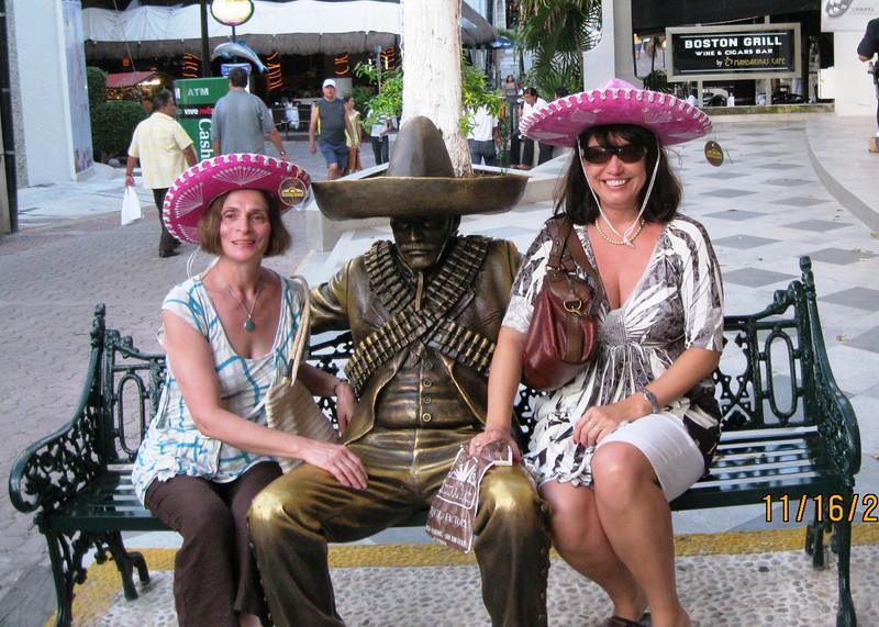Playa del Carmen - 4 Mexican style - wearing sombrero...