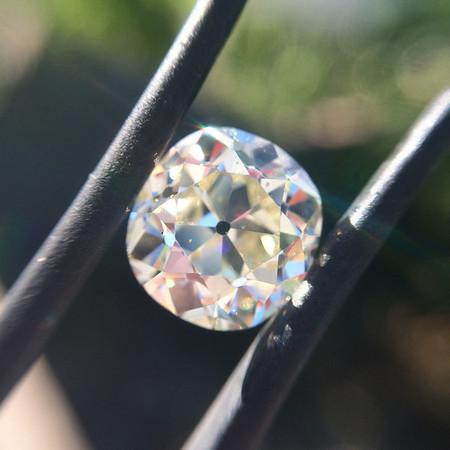 3.46ct Antique Cushion Cut Diamond, GIA O/P, VS1