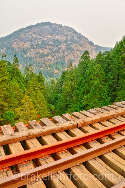 Goldstream Trestle with view to Mt. Finlayson