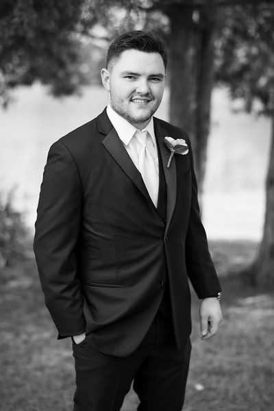 Classic Groom in Black and White