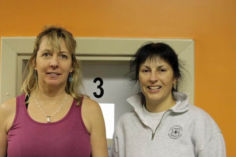 Women's Open 1st place team Karen Harris & Terri Marceron..