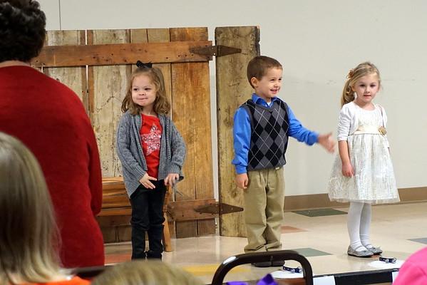 Zoe's preschool Christmas program 2014