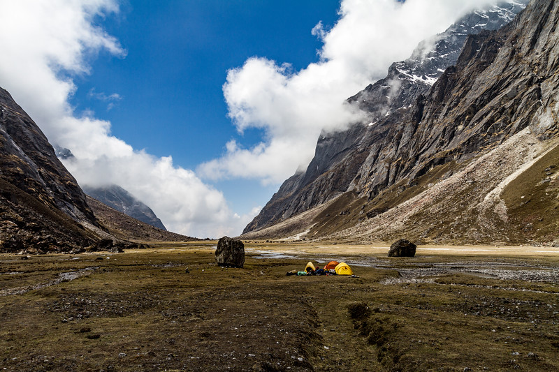 Camping in valley - Nepal