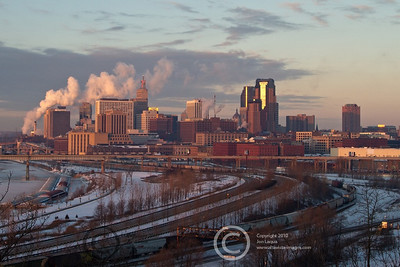 St. Paul Moonset/Sunrise