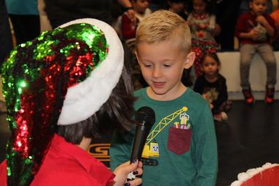 Coronado robot-sleigh delivers presents to pre-schoolers