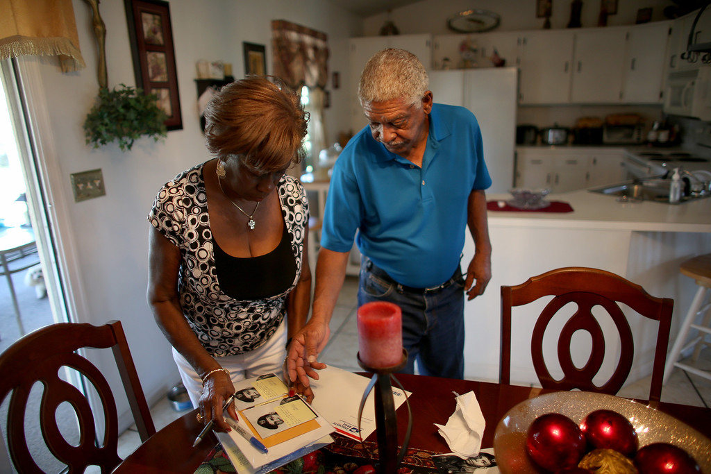 . U.S. Army Staff Sergeant Melvin Morris, a Vietnam War veteran, and his wife Mary Morris are seen at their house on March 04, 2014 in Cocoa, Florida.  (Photo by Joe Raedle/Getty Images)