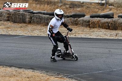 Go Ped Racer-White Helmet_Silver Ped