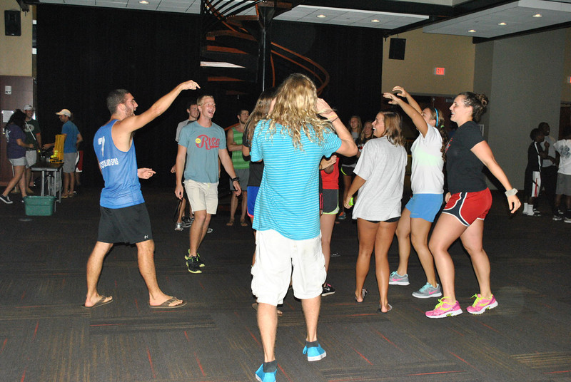 Some students started a spontaneous dance party.