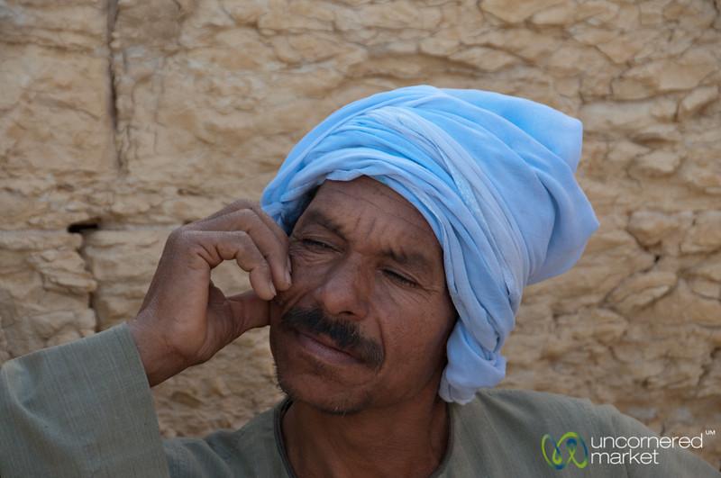 Egyptian Man at Qasr Qaroun - Fayoum, Egypt