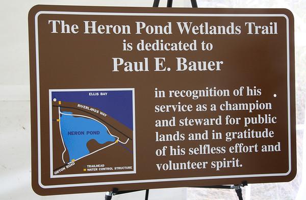 Heron Pond Dedication 2009-10-25