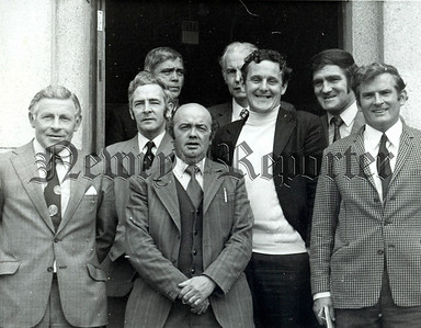 Some of the local group of potitians who met Mr. Stanley Orme in Warrenpoint Town Hall Sean Hollywood