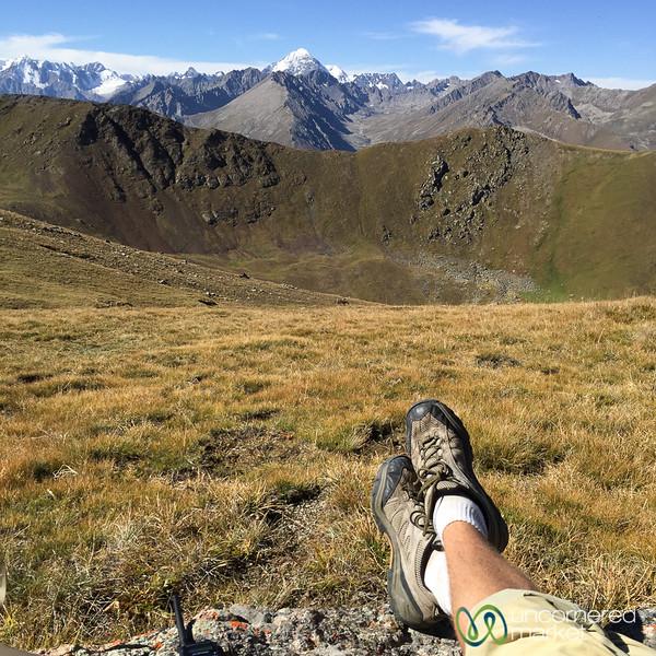 Enjoying the View at Terim Tor Bulak Pass - Jyrgalan Trek, Kyrgyzstan
