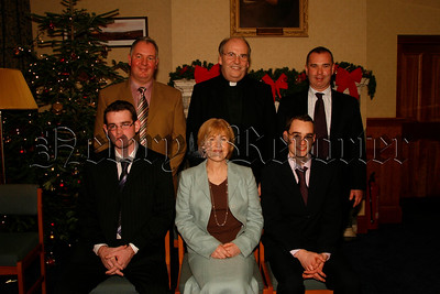 St Colmans College ,Prize Night, Padraig Mulholland(right) Kevin Rafferty, with Mr Michael Doyle, Dr Francis Brown, Peter Maguire, &  Mrs Carol Mc Cann.06W52N51
