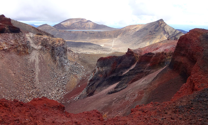 Red Crater and Blue Lake beyond