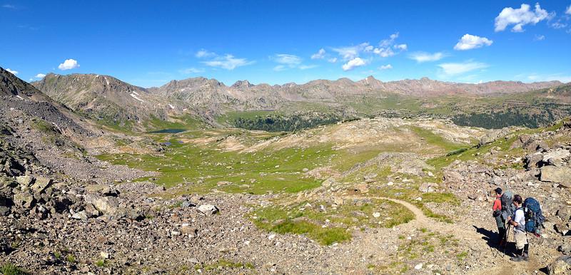 Looking back across Cross Creek Valley near Fancy Pass