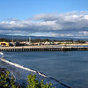 A view of the Santa Cruz Beach Boardwalk and the Wharf