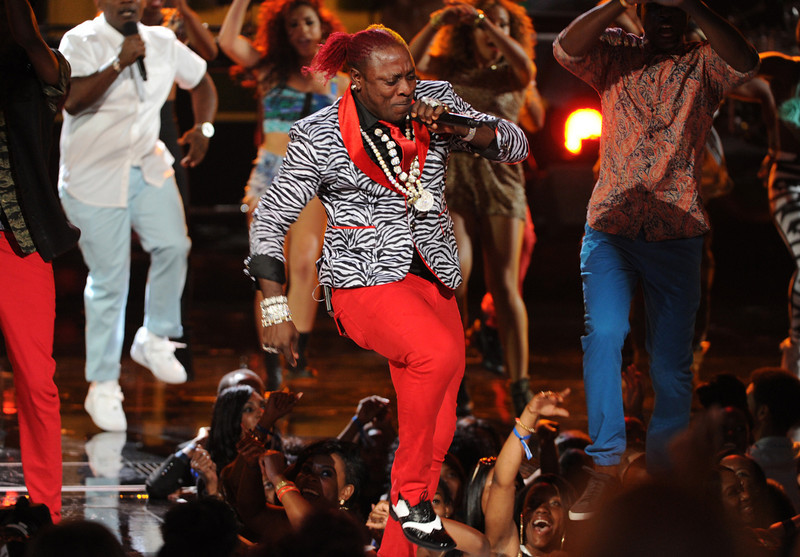 . Elephant Man performs onstage at the BET Awards at the Nokia Theatre on Sunday, June 30, 2013, in Los Angeles. (Photo by Frank Micelotta/Invision/AP)